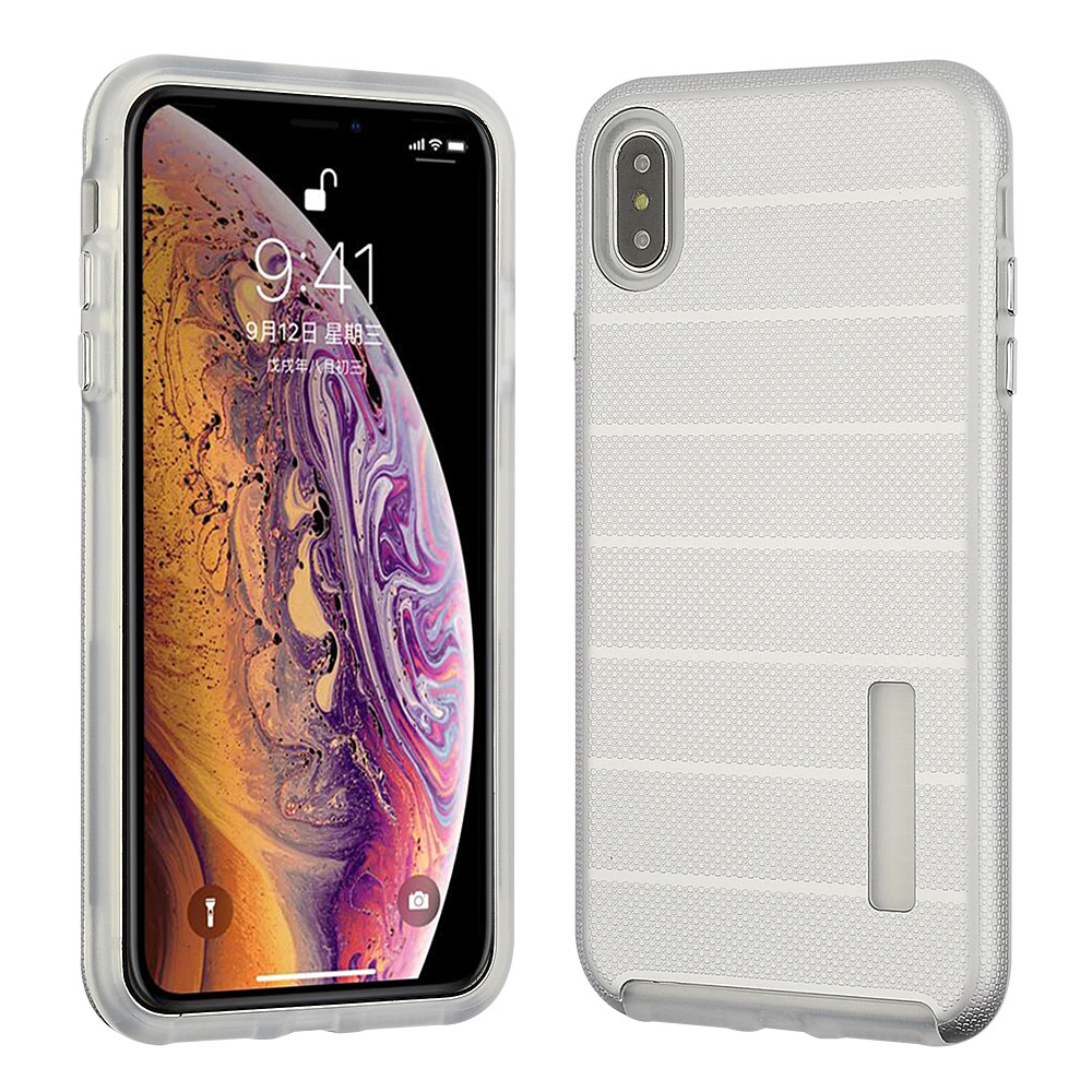 Apple iPhone Xs Max - Hybrid Slim Snap On - Silver Color PC