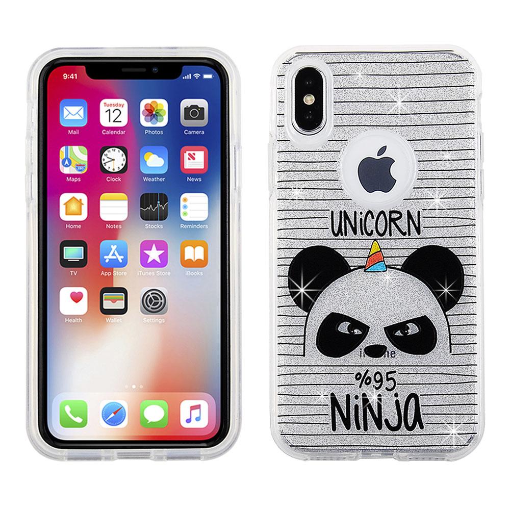 Apple iPhone X / iPhone Xs - Panda Design on PC Hard