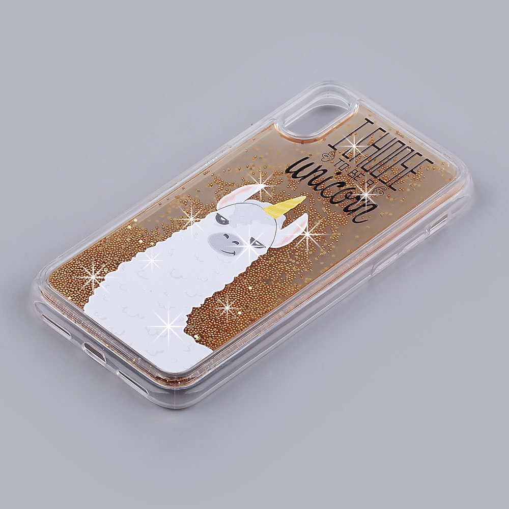super popular 48e8c ef841 Apple iPhone X / iPhone Xs - Llama Unicorn Design on Rose Gold ...
