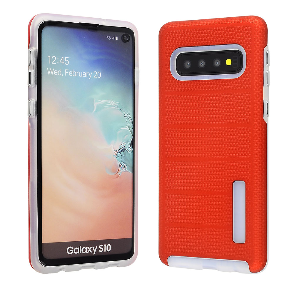 Samsung Galaxy S10 - Hybrid Slim Snap On - Red Color PC