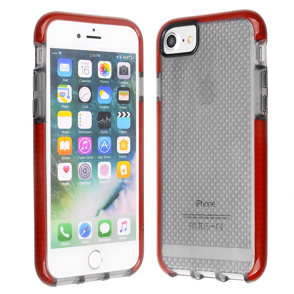 c80277fc1343 Scratch-Proof and Shock Resistant Clear Black Textured TPU Cover ...