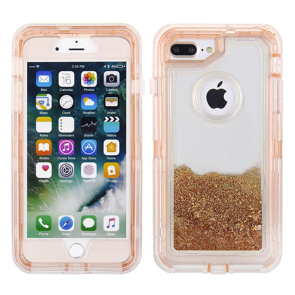 another chance 386c5 e3836 Apple iPhone 8 Plus / 7 Plus - Tough Liquid Pro Case - Rose Gold PC ...