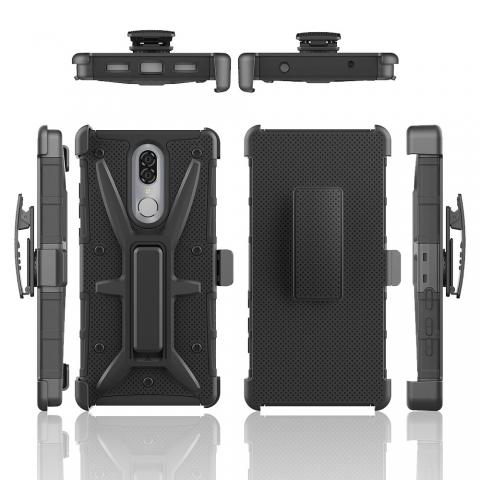 CoolPad Legacy - Holster Kickstand Combo - Black Rugged Texture