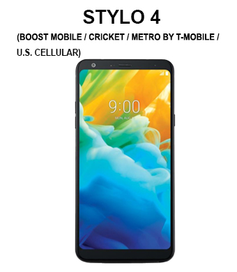 Stylo 4 (Boost Mobile / Cricket / Metro by T-Mobile / Sprint / Tracfone / U.S. Cellular / Virgin Mobile)